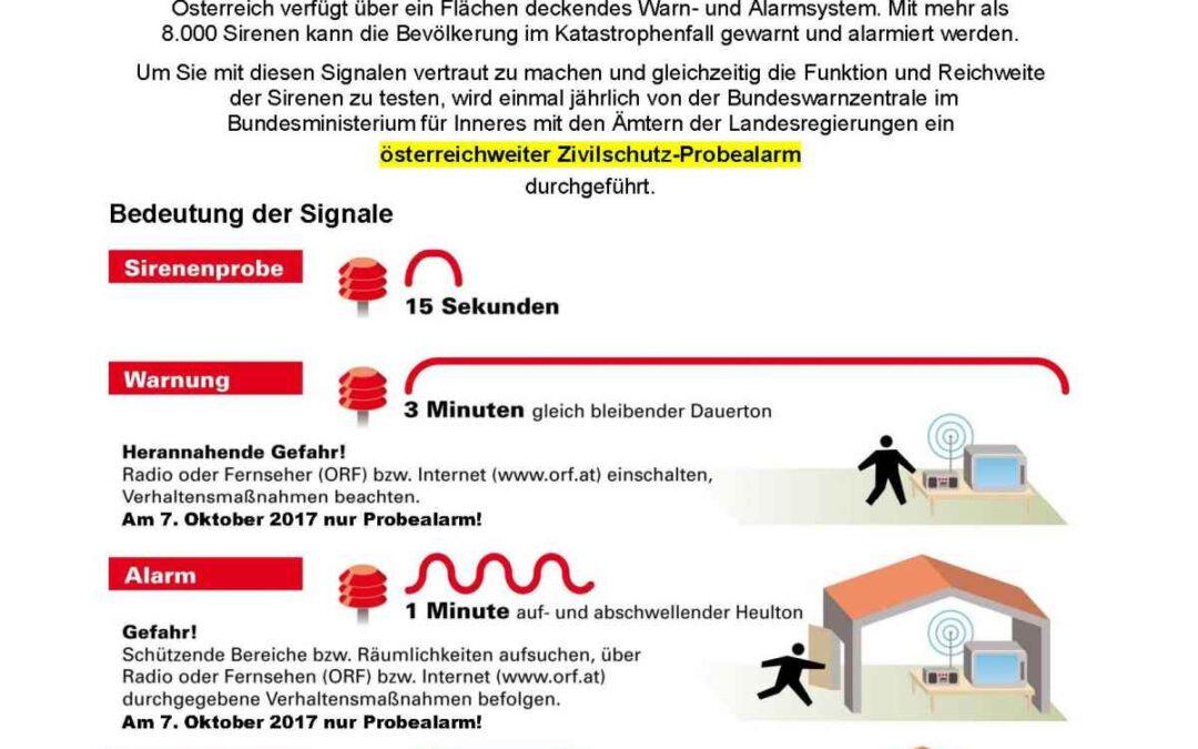 7. Oktober – Zivilschutzalarm in Österreich