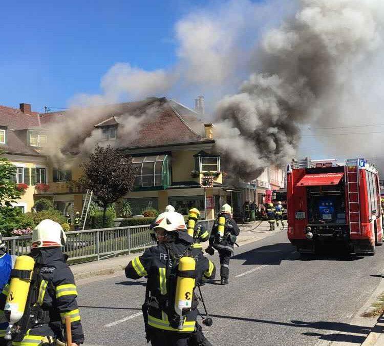 Brand Wohnhaus Stadtplatz